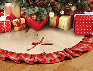 Best burlap and red tree skirt Reviews