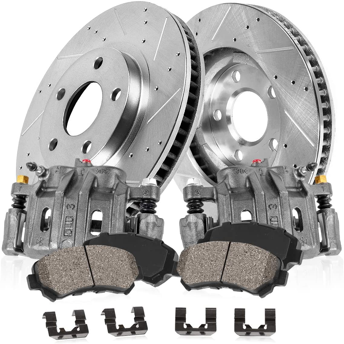 Manufacturer OFFicial shop Callahan CCK03120 FRONT 2 Premium Calipers Raleigh Mall + OE Grade Loaded