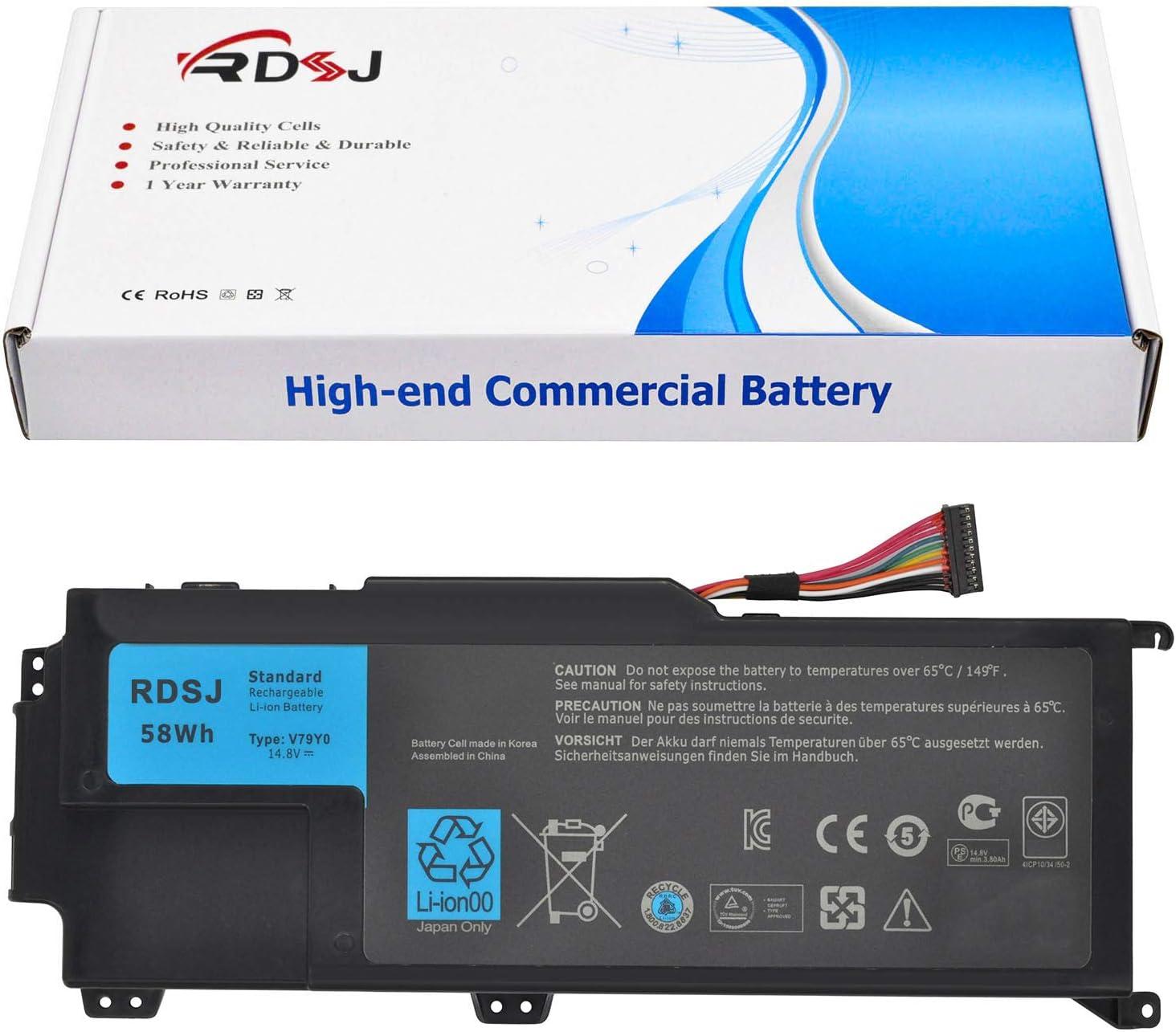 V79Y0 ORMTVY Laptop Battery for Dell XPS 14Z 14Z-L412X 14Z-L412Z XPS L412X L412Z Series 0YMYF6 YMYF6 V79YO 201106 14.8V 58Wh