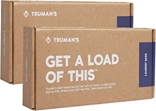 Truman's Laundry Detergent – Get a Load of This: Non-Toxic, Fragrance Free, Zero-Waste and HE Friendly – 60 Loads (2 packs...