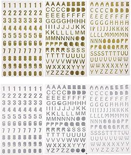 Kicode 100pcs Hechos a mano de madera de las letras del alfabeto Adornos de bricolaje Accesorios de Scrapbooking Decoraciones de navidad for Wedding Party Crafting Card Making
