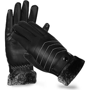 COUTOG レザー手袋 タッチパネル対応 バイクグローブ メンズ 革