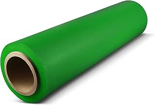 Stretch Wrap Film, Moving Wrap, Green, 18 Inch x 1500 Feet, 80 Gauge, 1 Roll