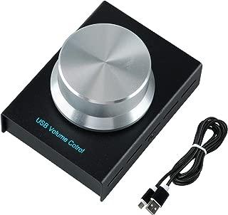 YaeCCC Aluminum USB Volume Control Knob Lossless Audio Controller Knob Speaker Audio Adjuster with 1 Key Mute Function for XP/MAC/Vista / Win7 / 8/10 Android