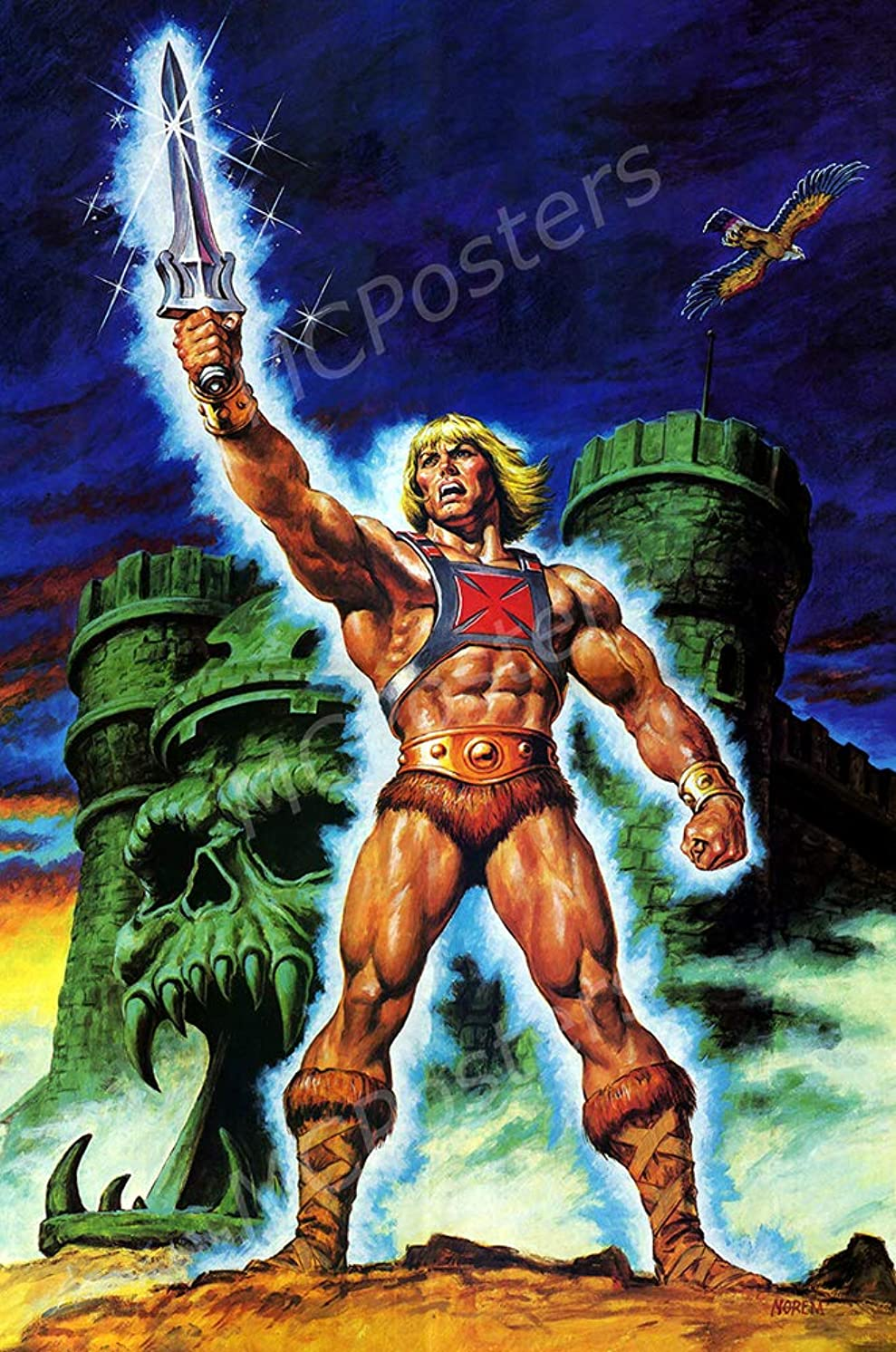 MCPosters - Masters of The Universe He-Man Cartoon TV Show Series Poster Glossy Finish - TVS820 (24