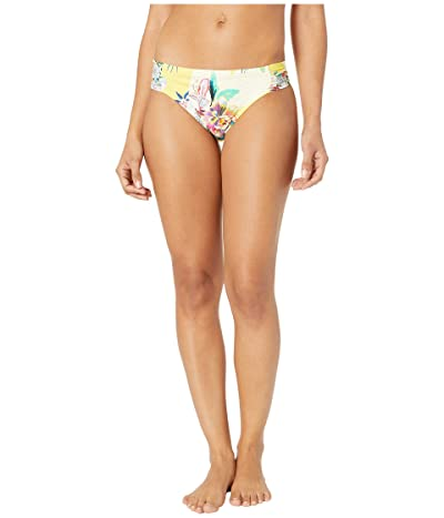Kenneth Cole Painterly Tropical Sash Tab Pant Bottoms (Sunshine) Women