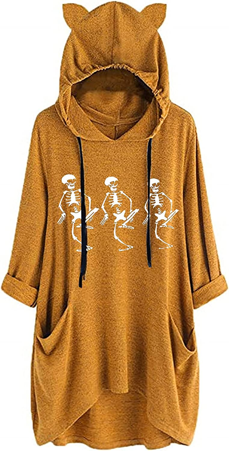 Plus Size Halloween Luxury goods Costumes Super sale period limited for Tops Leg Tunic Hooded Women