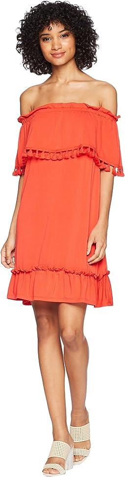 kensie - Slinky Knit Off the Shoulder Dress KS5K8196