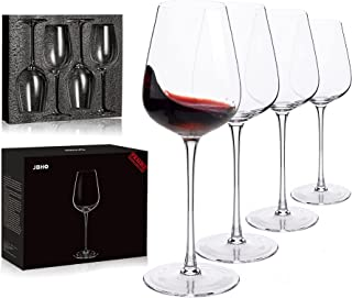 Hand Blown Italian Style Crystal Bordeaux Wine Glasses - Great Gift Packaging - Red Wine Glasses Lead Free Premium Crystal...