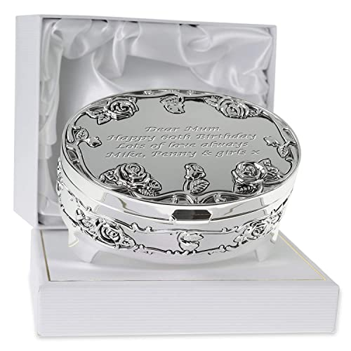 68d5f6e8bd0ed De Walden Girl s 60th Birthday Gift Engraved Silver Plated Rose Trinket Box  in a Presentation Box