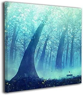 Zetena 森 キャンバス絵画 アートパネル フォトフレーム 絵画 モダンフレーム装飾画 壁飾り 壁ポスター おしゃれ インテリア