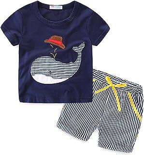 LittleSpring 夏 キッズ 半袖 Tシャツ ハーフパンツ セットアップ 子供服 男の子 パジャマ スポーツ カジュアル ジャージ セット