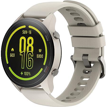 【日本正規代理店品】Xiaomi Mi Watch スマートウォッチ 丸型 活動量計 歩数計 ストップウォッチ腕時計 32g軽量設計 GPS運動記録 カスタムダイヤル 着信通知 117種類運動モード Bluetooth5.0 (ベージュ)