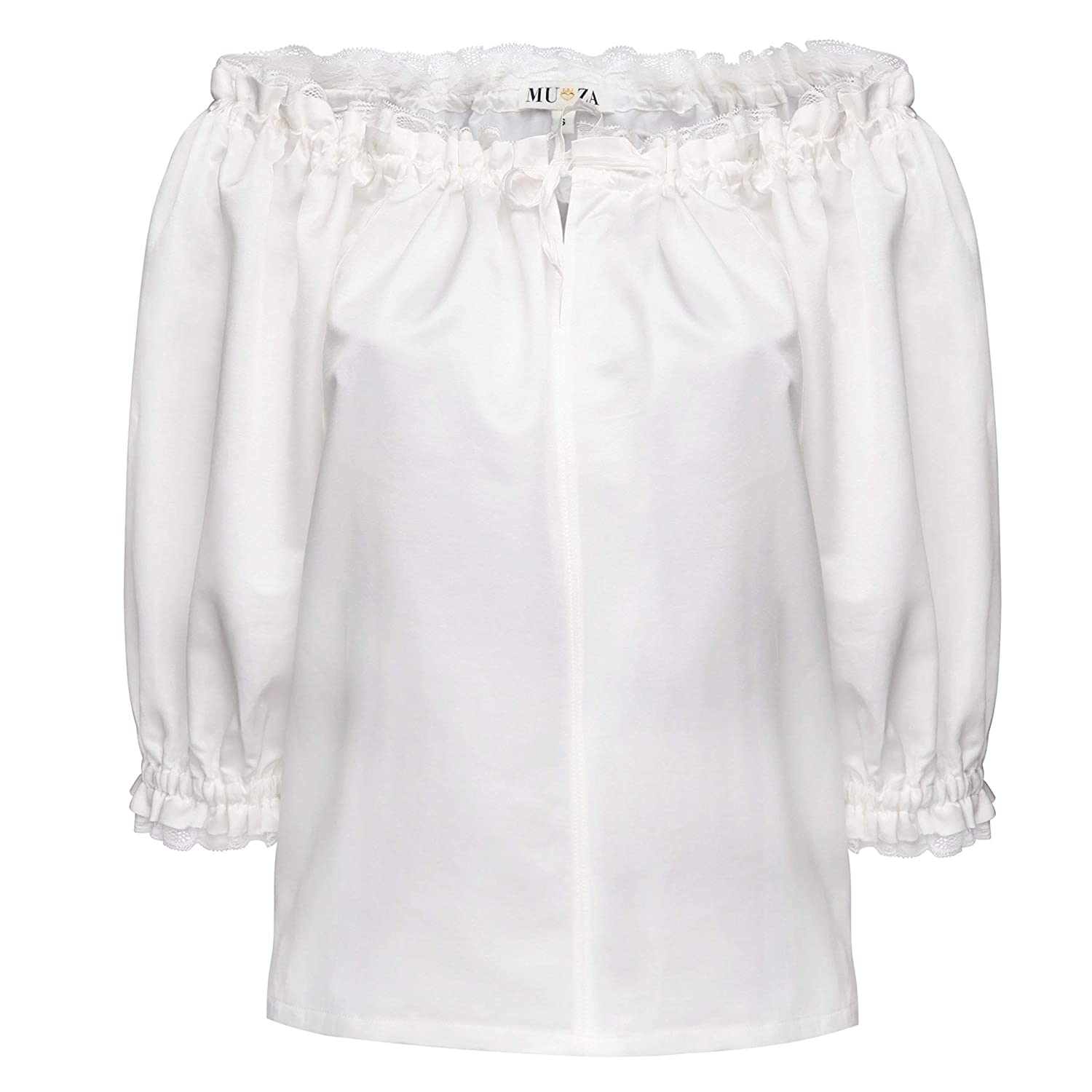 Sales results No. 1 MUZA White Off The Shoulders Blouse With Silk San Diego Mall Lace