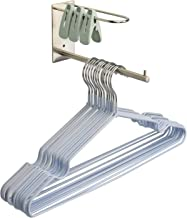 Clothes Hanger Stacker Holder Storage Organizer Rack for Closet & Laundry Room Tidier, Wall Mount, Adhesive or Drilling In...