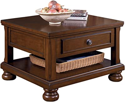 Signature Design by Ashley - Porter Lift Top Coffee Table, Rustic Brown