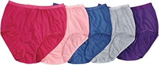 Comfort Choice Women's Plus Size 10-Pack Pure Cotton Full-Cut Brief