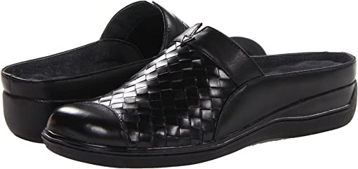 Black Burnished Veg Leather