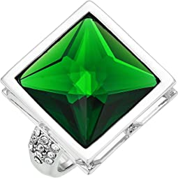 Rhodium/Crystal/Dark Moss Green
