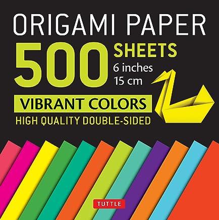 Origami Paper 500 Sheets: Vibrant Colors