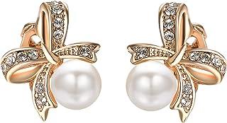 Yoursfs - Pendientes de perla con circonita cúbica, el mejor regalo para mujeres