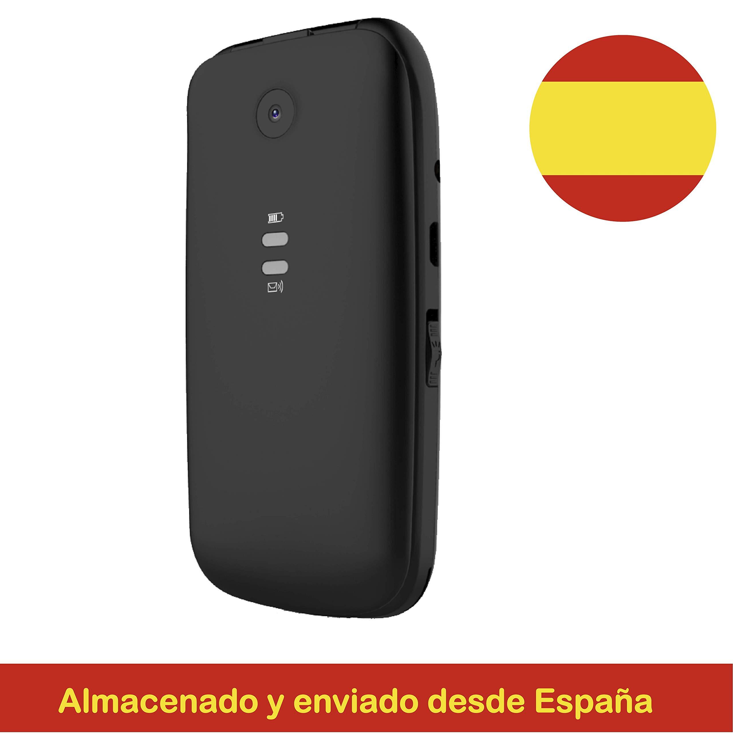 Yingtai T15 Negro, Teléfono Móvil con Tapa para Personas Mayores ...