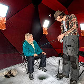 Taltintoo20 Waterproof Pop-up 8-Person Ice Shelter Fishing Tent