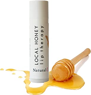 Honey Lip Balm-100% Natural Moisturizing Lip Balm-Organic Beeswax -Vitamin E