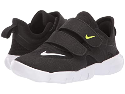 Nike Kids Free RN 5.0 (Infant/Toddler) (Black/White/Anthracite/Volt) Kids Shoes
