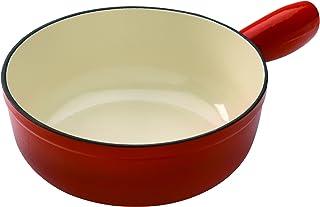 KUHN RIKON 32008 - Cacerola para Fondue (para inducción, Hierro, 20cm), Color Rojo