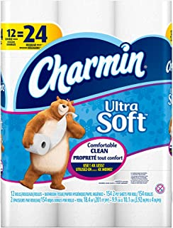 Charmin Ultra Soft Toilet Paper, Double Roll, 12 Count