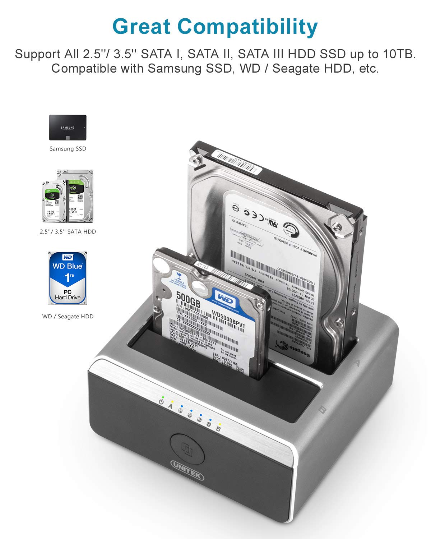 Unitek - Base de conexión USB 3.0 a SATA I/II/III para Disco Duro ...