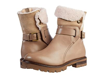 AGL Shearling Motor Boot (Marble) Women
