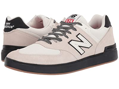 New Balance Numeric AM574 (White/Black 2) Men