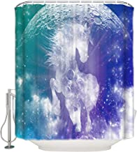 Prime Leader Shower Curtains for Bathroom with Metal Grommets- Jack Williamson's Moon Child Polyester Fabric Removable Household Bathroom Curtains 36