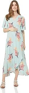 Maive & Bo Women's Harlow Maternity & Nursing Wrap Dress in Mint