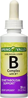 Spring Valley – Vitamin B-Complex Sublingual Liquid, 2 Ounce With a burst of B-12