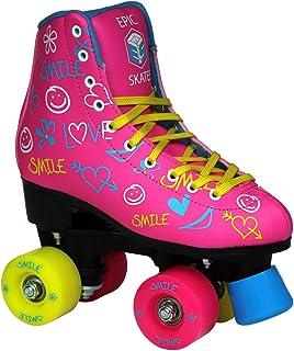 Epic Skates Epic Blush Indoor/Outdoor Fashion High-Top Quad Roller Skates