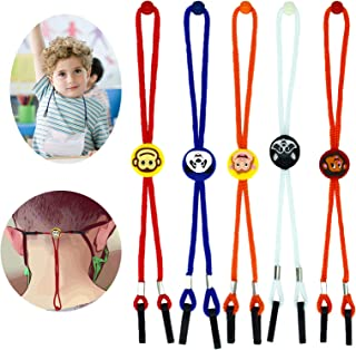 Face Masks Lanyard for Safety Mask Lanyard Strap Holder Hanger Facemask Rest Neck Strap With Clips for kids Adults (Cute a...