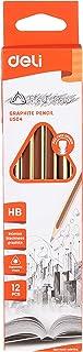 Deli Eu50400 Graphite Pencil with Non Toxic Pvc Free Eraser