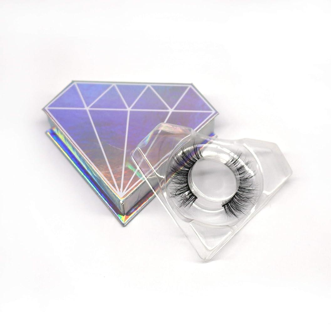 注釈圧力一節3D自然な 高級ミンクつけまつげ 全く天然なミンク毛で手作り 収納ケース付け 3D01
