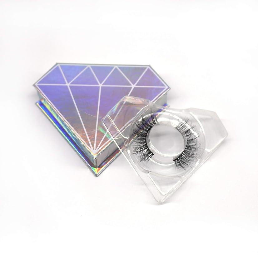 化学薬品懐最も遠い3D自然な 高級ミンクつけまつげ 全く天然なミンク毛で手作り 収納ケース付け 3D01