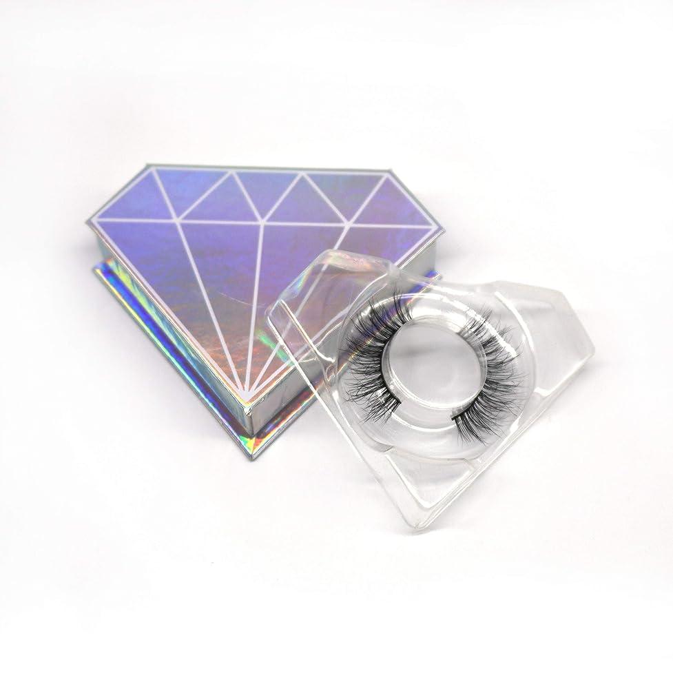未接続くびれたこれまで3D自然な 高級ミンクつけまつげ 全く天然なミンク毛で手作り 収納ケース付け 3D01