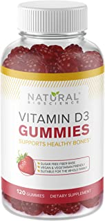Sugar Free Vitamin D3 Gummies - Family Size 120 Gummies, Vitamin D for Kids & Adults, No Sugar, No Glucose, No Corn Syrup,...