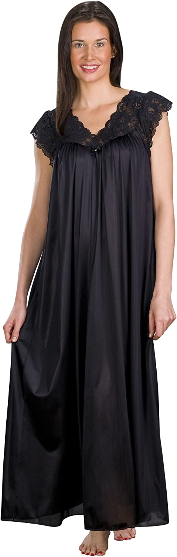 Shadowline Women's Silhouette 53 Inch Short Cap Sleeve Long Gown
