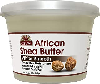 OKAY | African Shea Butter | For All Hair Textures & Skin Types | Daily Moisturizer - Soothe Irritation | White Smooth Ref...