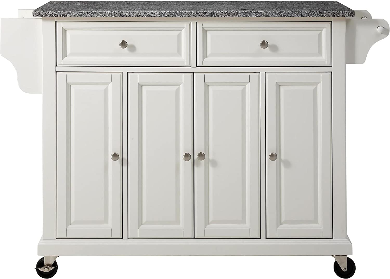 Crosley NEW before selling Furniture Full Long-awaited Size Kitchen Cart Gray with Solid Granite