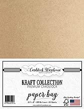 Paper Bag Kraft Cardstock - 8.5 X 11 inch - Premium 100 LB. Cover - 25 Sheets from Cardstock Warehouse