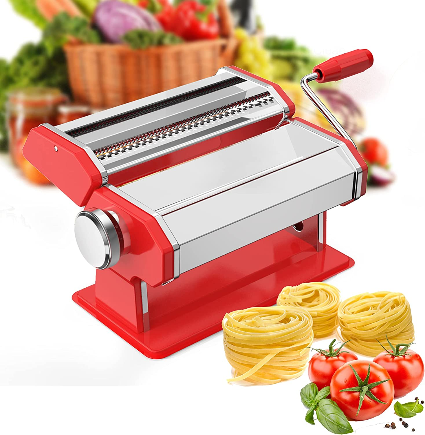 Pasta Machine EZSOZO Maker Stainless M Manual Steel Max 89% OFF SEAL limited product