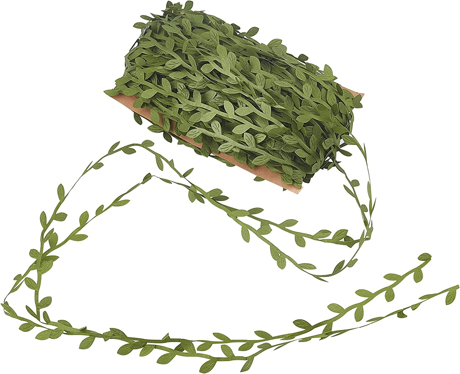 NBEADS About 40m Artificial Leaf Cloth Nashville-Davidson Mall Silk Cheap mail order sales Leaves Green Vines